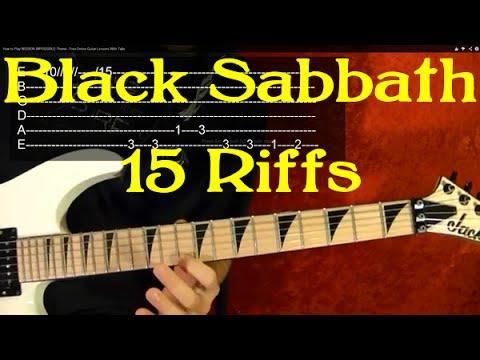 BLACK SABBATH Guitar Lesson - 15 Great Riffs!✅✅🎵