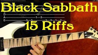 BLACK SABBATH - 15 Riffs -  Guitar Lesson