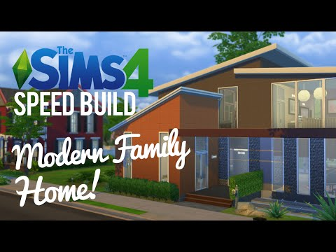 The Sims 4 Speed Build — Modern, Family Home