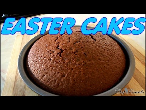 Chocolate Easter Cakes Recipe | Recipes By Chef Ricardo