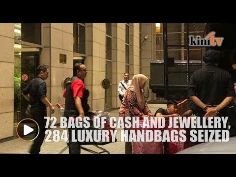 284 Luxury Handbags 72 Bags Of Cash And Jewellery Seized From Condo