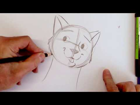 How to Draw a Cartoon Cat Step-by-Step
