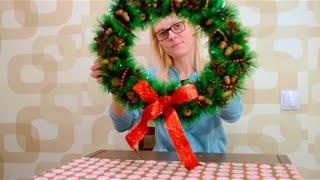 ВИДЕОУРОК! Рождественский венок СВОИМИ РУКАМИ!