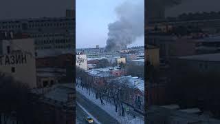 Пожар в центре Благовещенска