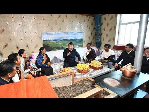 Xi Jinping learns about Tibetan herdsmen's life
