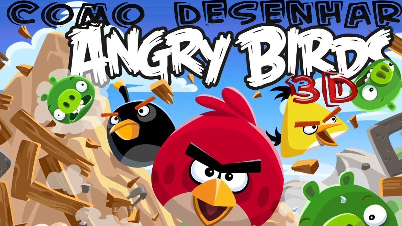Como Desenhar 3d Angry Birds Youtube