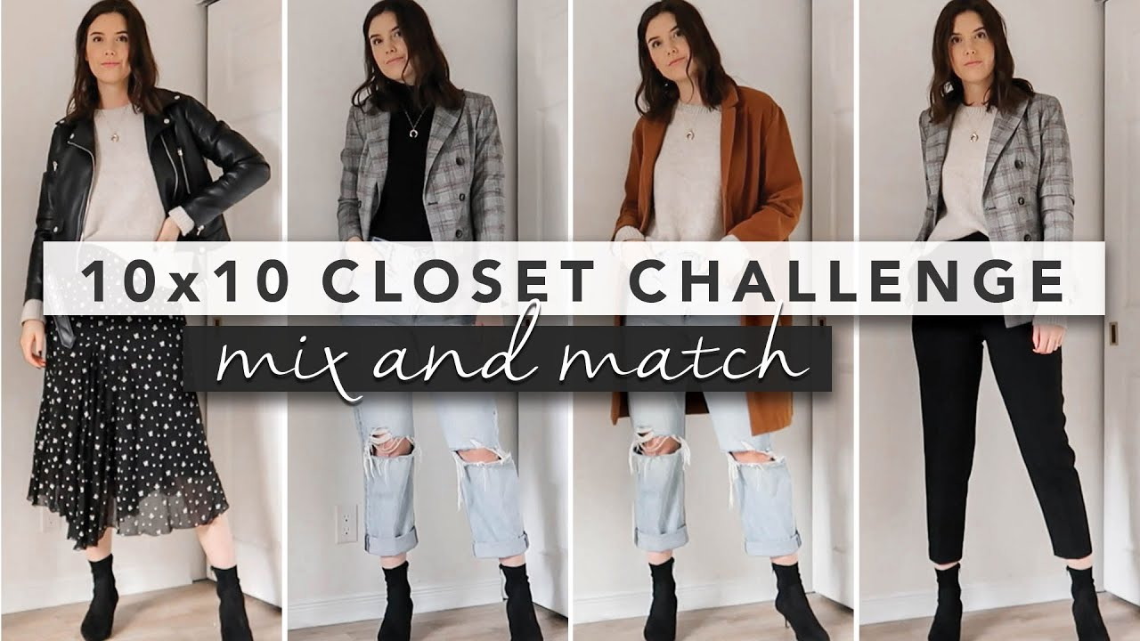 [VIDEO] - 10 Outfits x 10 Pieces Wardrobe Challenge with Essential Fall Basics | By Erin Elizabeth 2