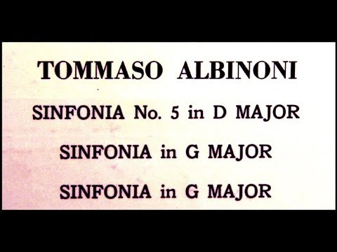 Albinoni / Helmut Froschauer, 1961: Three Sinfonias in D Major and in G - Vienna Chamber Orchestra
