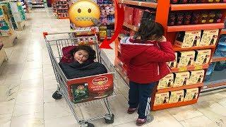ALIŞVERİŞ DE SAKLAMBAÇ OYNADIK NELER OLDU NELER! - Hide and Seek in  Grocery Store!