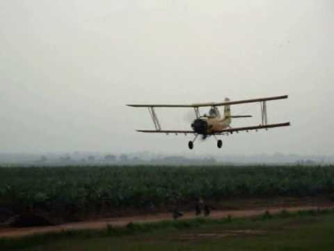 Aerial Spray with Ag Cat Indonesia.wmv