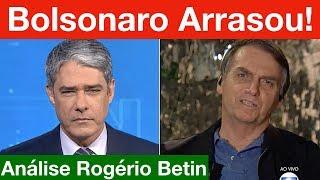 Bolsonaro no Jornal Nacional detona a Folha de SP em sua 1ª entrevista como Presidente da República!