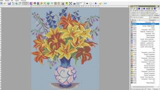 Как быстро создать схему вышивки бисером в программе  Бисер и мулине с MyJane, Урок 1