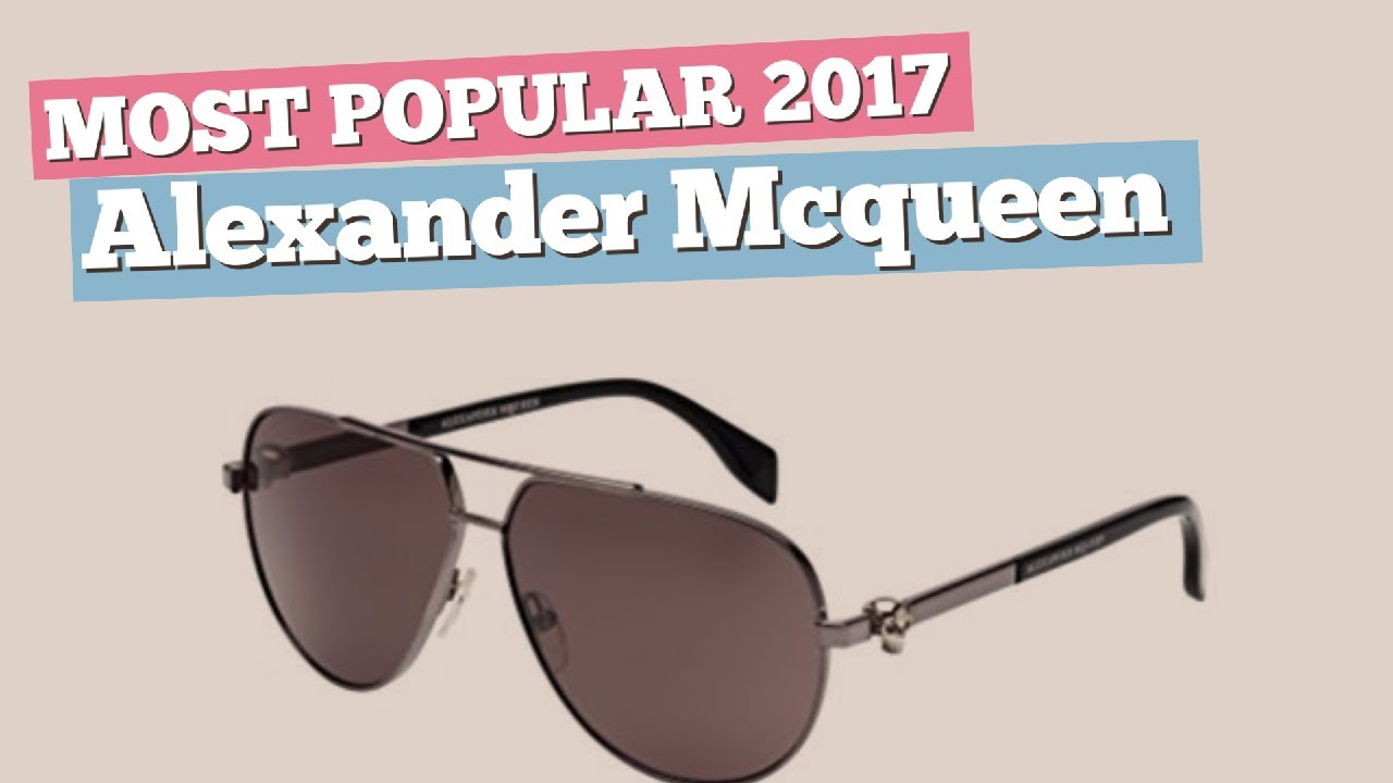 f14c669094 Alexander Mcqueen Sunglasses Collection    Most Popular 2017 - YouTube