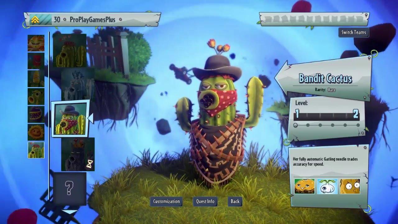 Zombies: Garden Warfare 2  Bandit Cactus Vs. Zombies Online Gameplay    YouTube