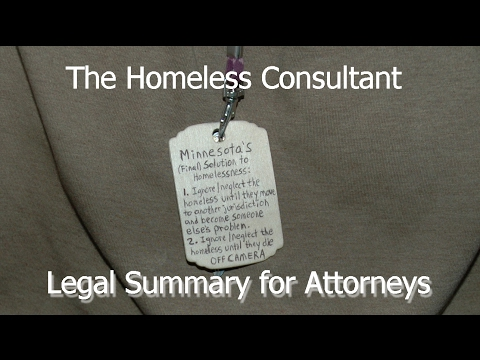Homeless Consultant Summary For Attorneys