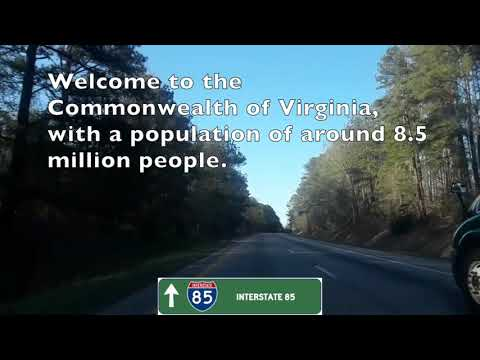 Durham, NC to Richmond, VA Drive via I-85 and I-95