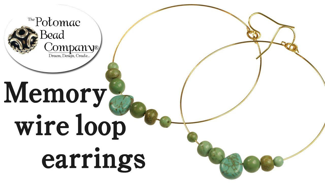 How to Make Memory Wire Earrings - YouTube
