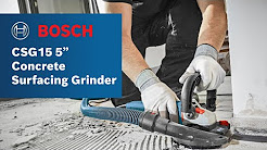 """Bosch Power Tools - CSG15 5"""" Concrete Surfacing Grinder w/ Dust Collection Shroud Product Video"""