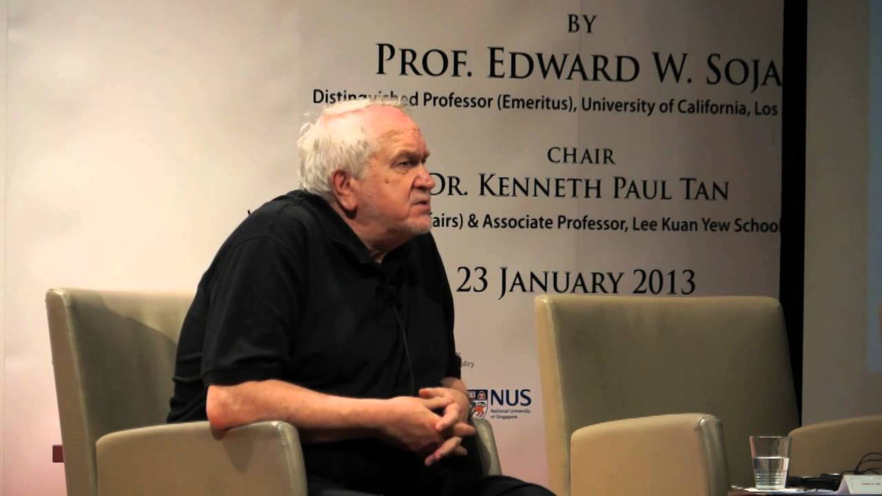 Chaired a public lecture by Edward W. Soja, 23 January 2013
