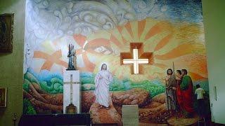 el mural que le dio vida a la iglesia Ziracuaretiro Mich.