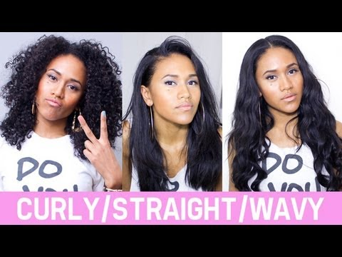 curly straight