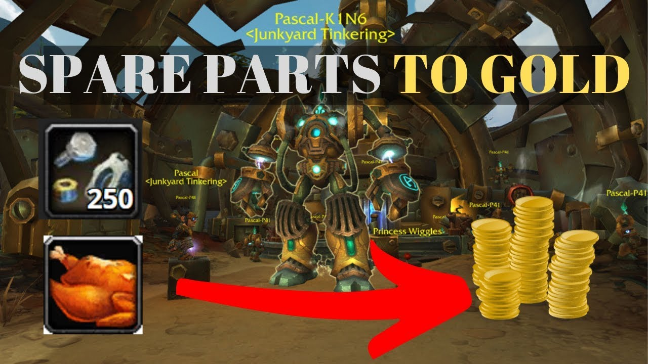 [BFA 8 2 Gold Guide] Turn Your Spare Parts Into Gold! (featuring Cooking)