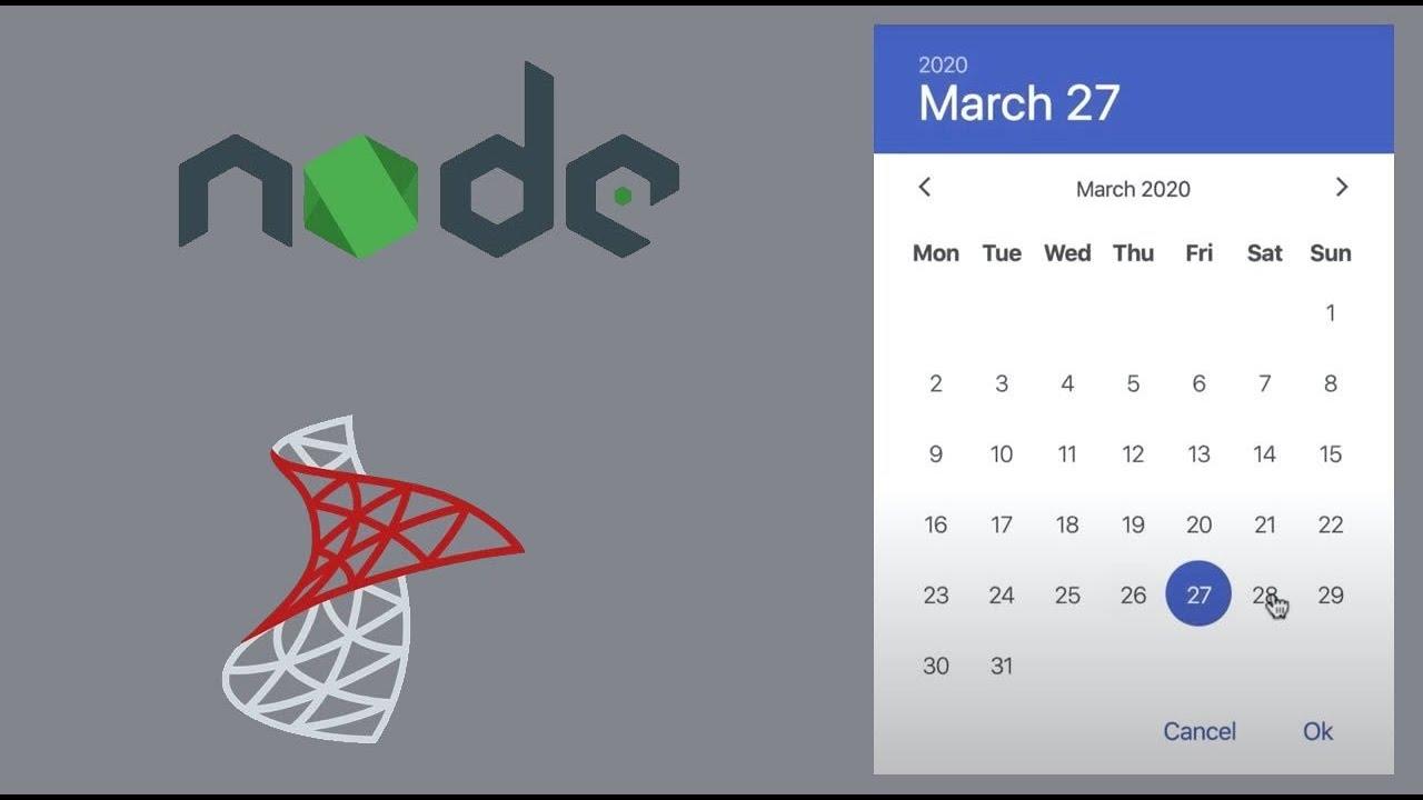 Build an Event Calendar App Using NodeJS and SQL Server (Step by Step Tutorial)