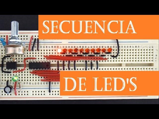 Secuencia de LEDs ( ne555 + 4017 )