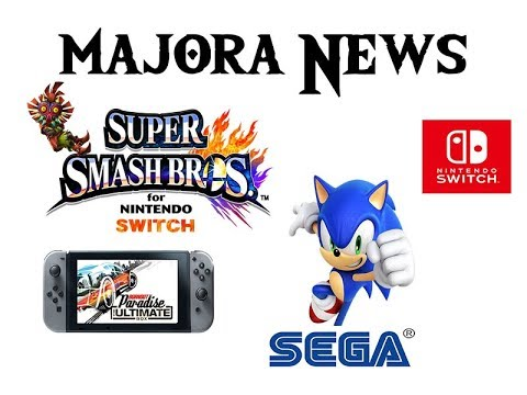 Majora News 04/[Rumor] Smash bros Deluxe,RPG da Sega,Mais Port para o Switch,Pay day 2 Sem conteúdo