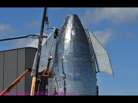 SpaceX Starship Mk1 Second Canard Installation - November 4, 2019