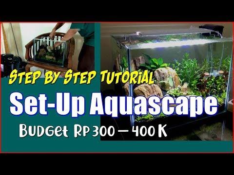 Tutorial Membuat (Set-Up) Aquascape Tema Natural