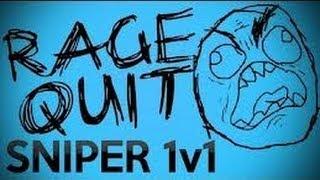1v1 Quick Scope RAGE QUIT Black Ops 2