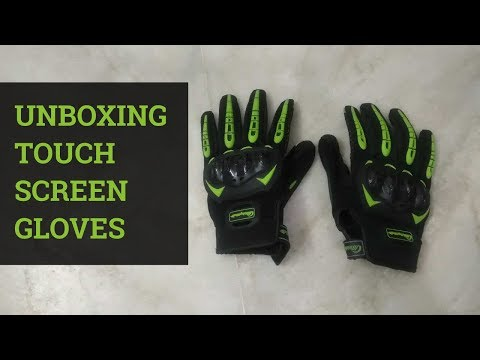 Unboxing Touch Screen Motorcycle Gloves