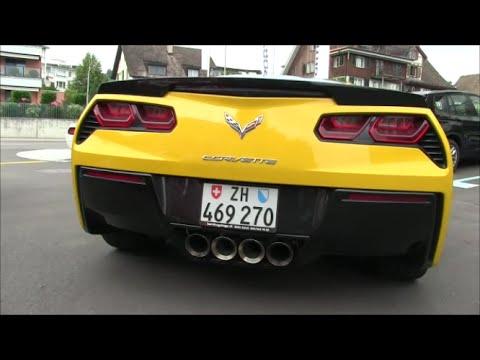 Chevrolet Corvette C7 Stingray Start Up And Acceleration Sound Youtube