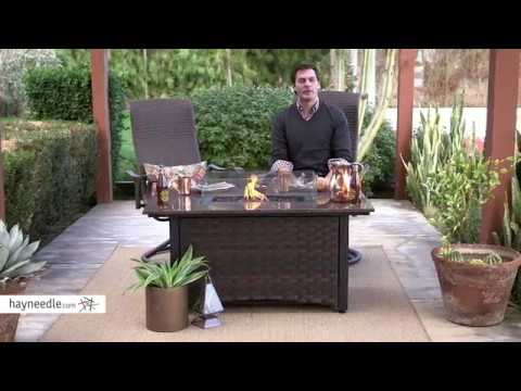 Red Ember Seagrove 48 inch Rectangle Propane Fire Pit Table with FREE Cover - Product Review Video