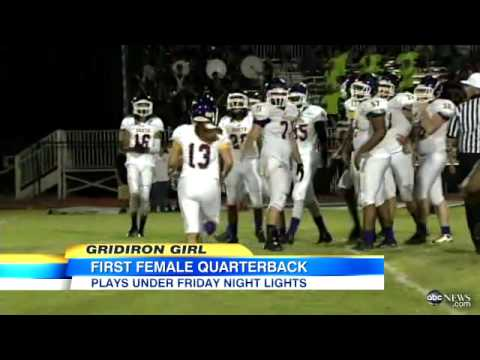 Female Teen Plays Quarterback