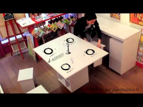 astuce gain de place buffet table 2 en 1 youtube. Black Bedroom Furniture Sets. Home Design Ideas