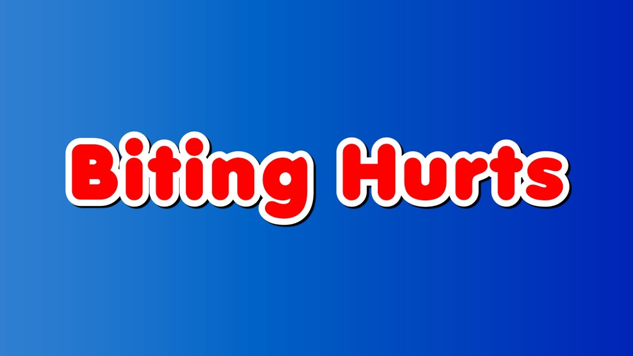 biting hurts Biting hurts the toddler and preschool years are when kids are learning how to express themselves often times, kids will try out new behaviors, such as biting, when they are frustrated or mad.