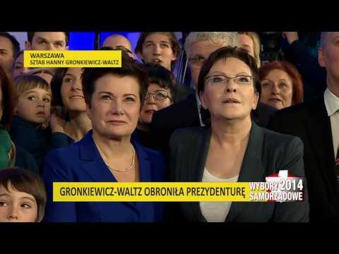 Live: Hanna Gronkiewicz-Waltz o swojej wygranej w wyborach