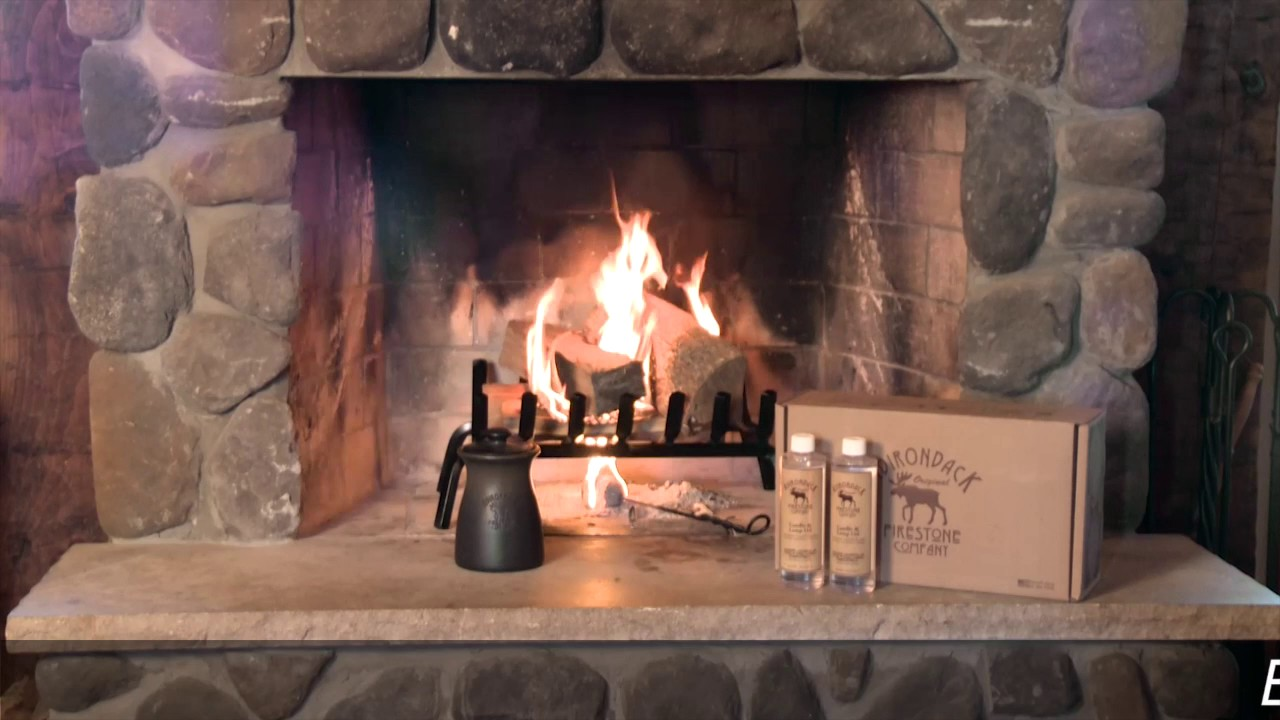 adirondack firestone firelighter kit with clean burning lamp oil