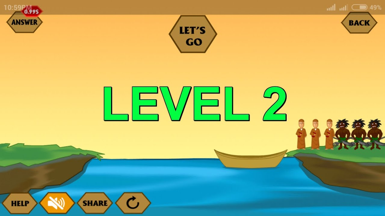 River Crossing Level Mobile Game YouTube - River game