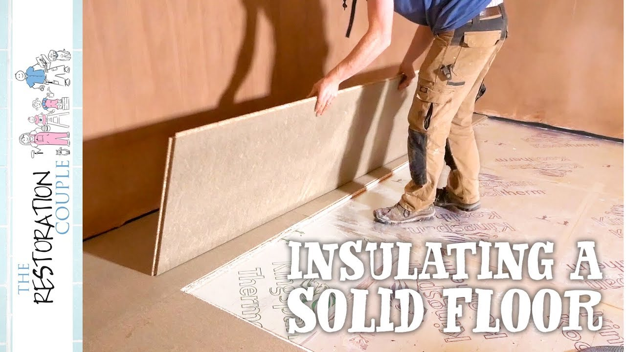 Insulating A Concrete Slab Diy Garage Conversion Youtube