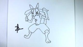 Como desenhar o Lucario (Pokemon)