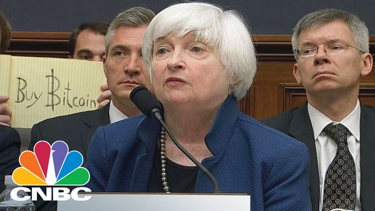 janet yellen someone held up a buy bitcoin sign during testimony to congress cnbc youtube janet yellen someone held up a buy bitcoin sign during testimony to congress cnbc