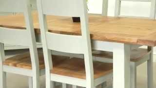 Country Oak 1.4m - 1.8m Painted Dining Table
