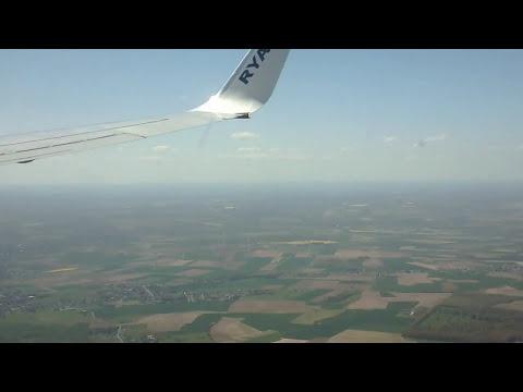 Ryanair arriving  at   Brussels  Charleroi  airport