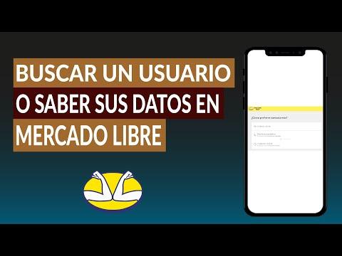 Cómo Buscar un Usuario o Saber sus Datos en Mercado Libre para Contactar con él