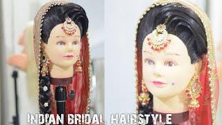 how to do bridal hairstyle || bridal juda choti | indian bridal bun hairdo || latest bridal bun 2018