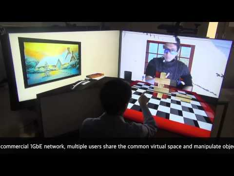 Physical Interaction in Immersive Virtual Reality on Flat-panel display