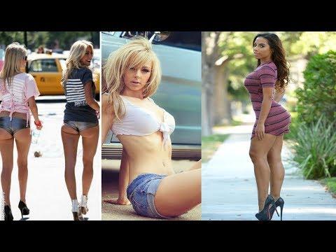 Самые короткие мини юбки на улице Mini skirts in the streets Теперь я знаю ВСЁ